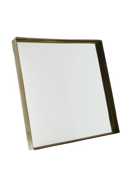 HomArt Lira Brass Framed Mirror - Sq