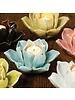 HomArt Lotus Tea Light Holder White