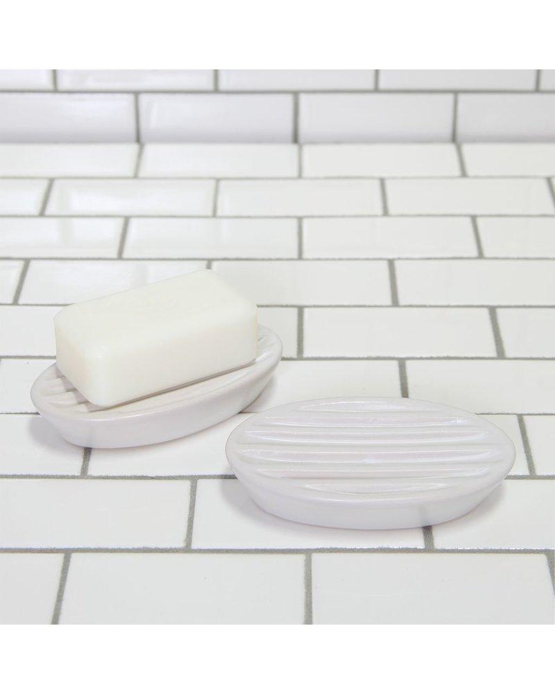 HomArt Luna Ceramic Soap Dish-Oval-White