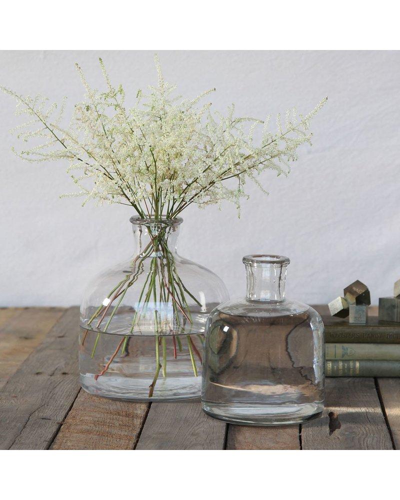 HomArt Milton Glass Bottle - Lrg Clear