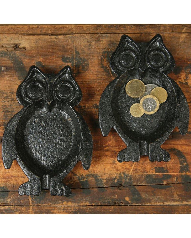 HomArt Owl Dish, Cast Iron Black