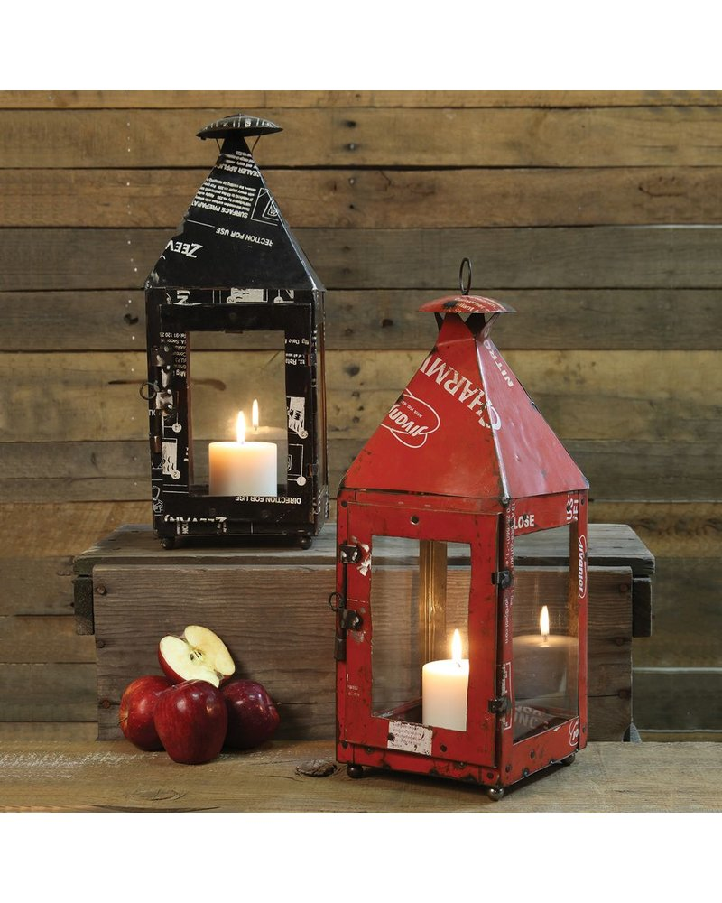 HomArt Reclaimed Metal Gatehouse Lantern - Black