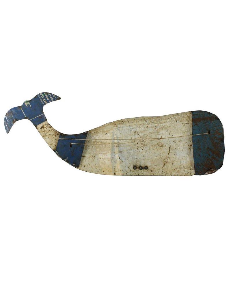 HomArt Reclaimed Metal Whale - Wall Mount Object