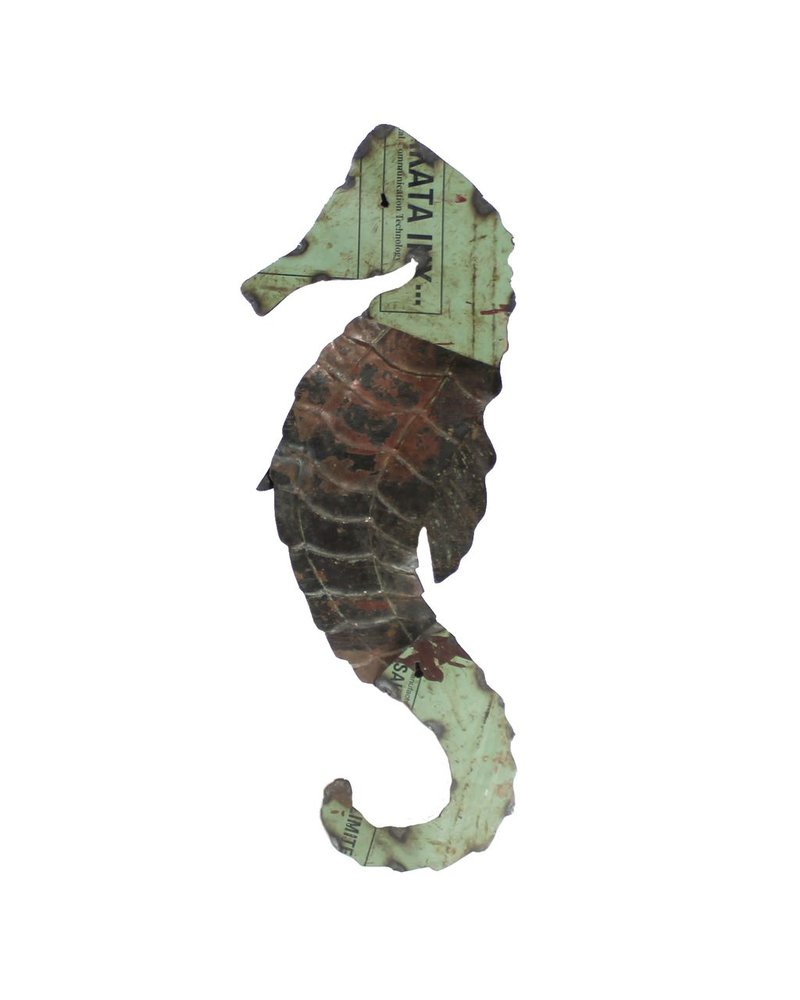 HomArt Reclaimed Metal Seahorse - Wall Mount Object