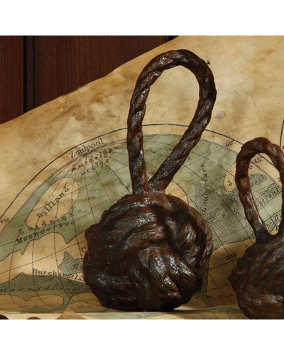 HomArt Rope Monkey Fist - Med - Cast Iron Rust