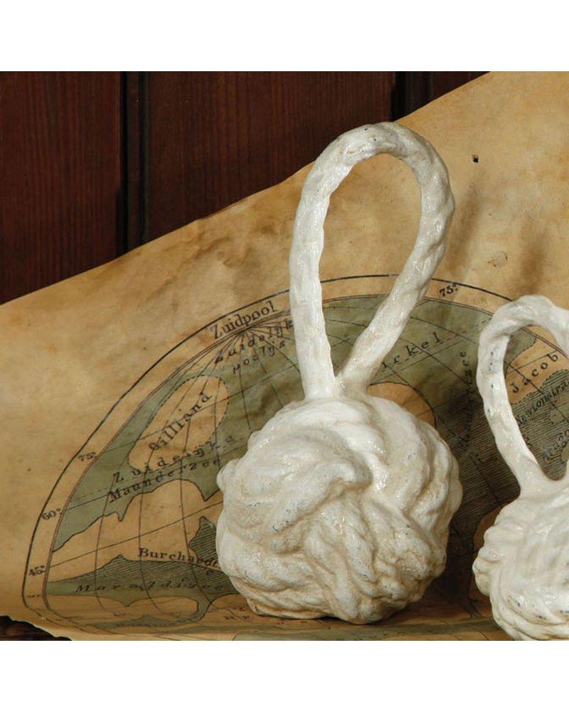 HomArt Rope Monkey Fist - Med - Cast Iron Antique White
