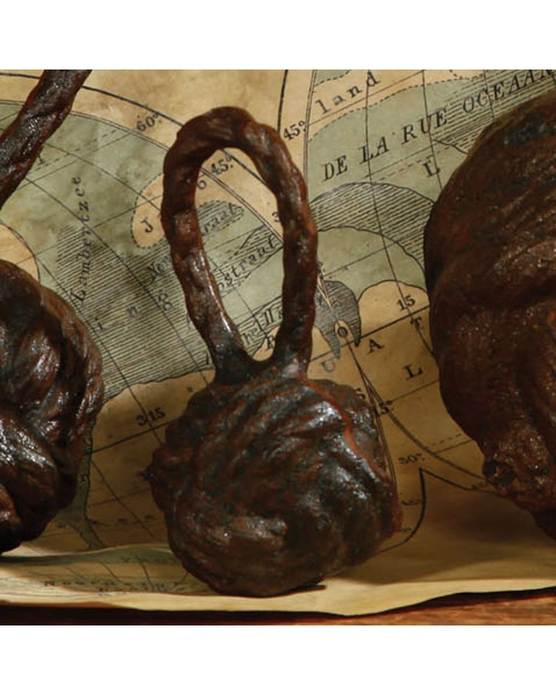 HomArt Rope Monkey Fist - Sm - Cast Iron Rust