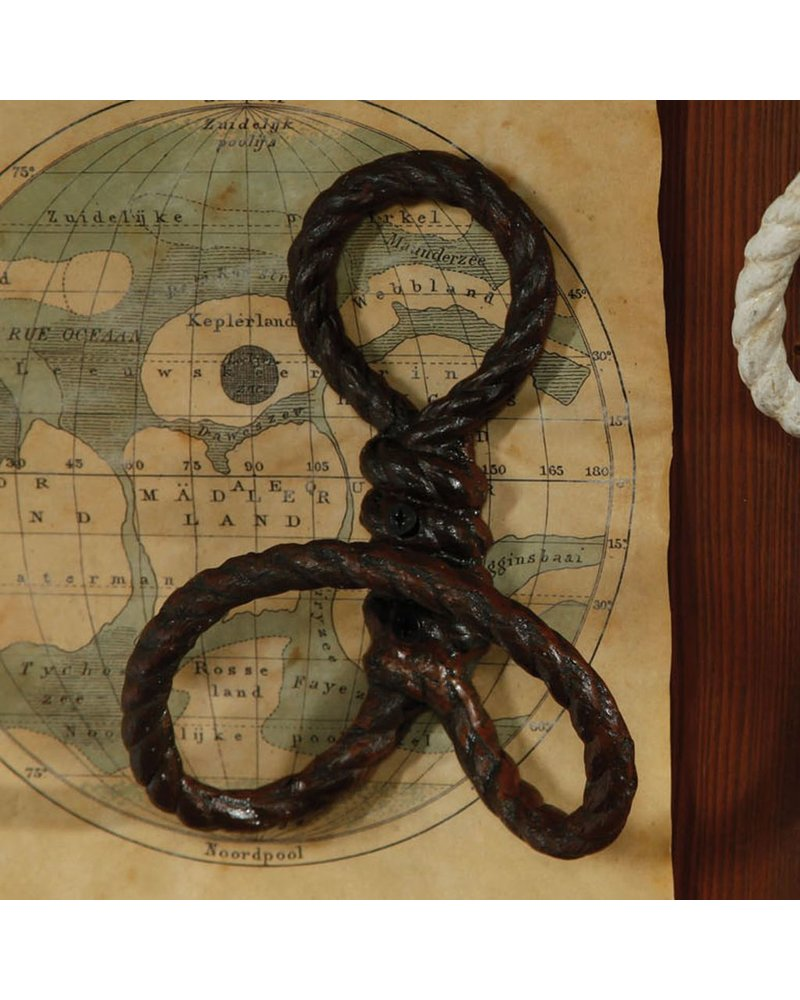 HomArt Rope Wall Hook - Cast Iron Rust