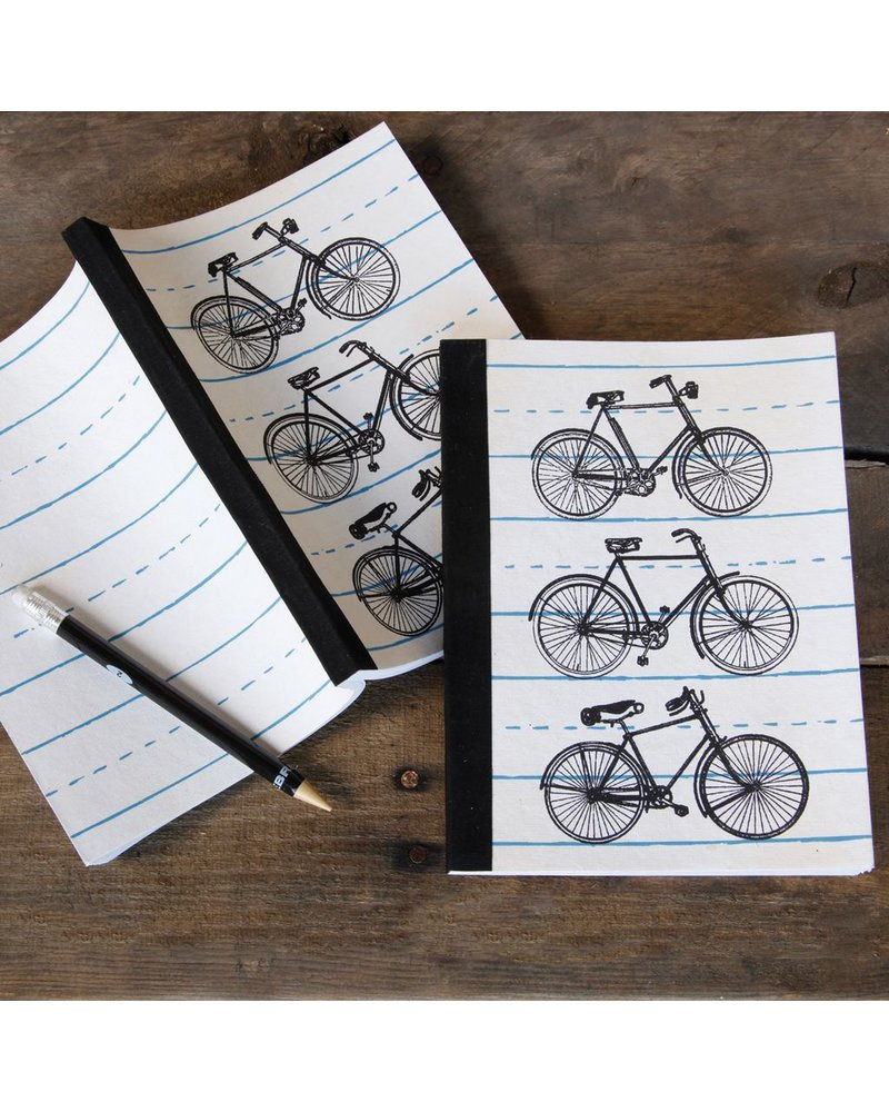 HomArt Recycled Paper Journal Bicycle Illustrations
