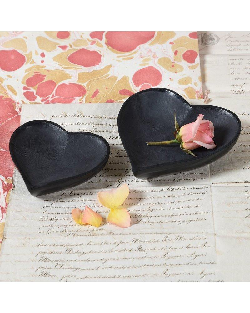 HomArt Soapstone Heart Bowl - Lrg Black