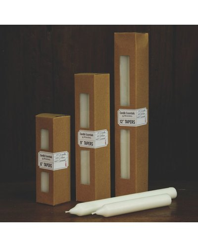 HomArt Taper 12 in - Box of 4 Ivory
