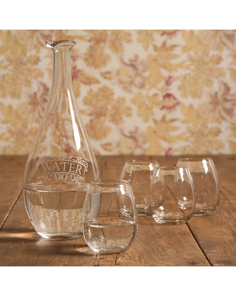HomArt Water Carafe w/4 cups Clear