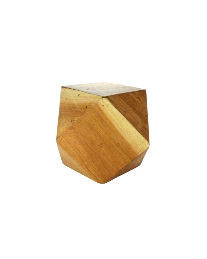 HomArt Icosahedron Wood Block - Sm Natural