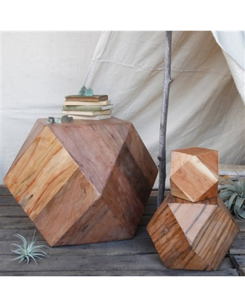 HomArt Icosahedron Wood Block - Lrg Natural