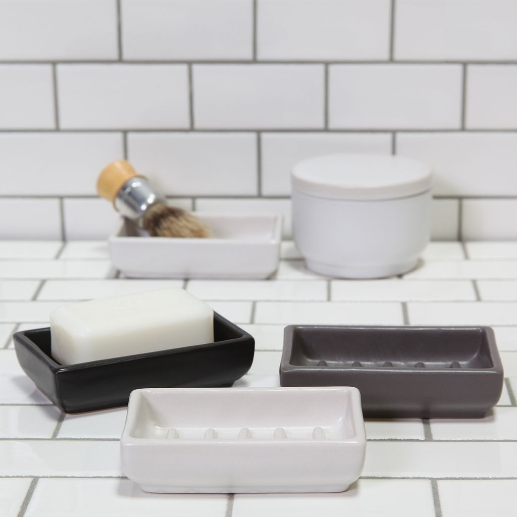 HomArt Luna Ceramic Soap Dish-Rect-White