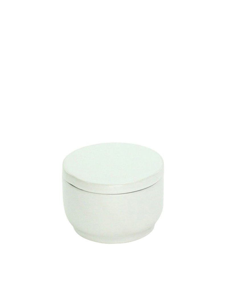 HomArt Luna Ceramic Bowl with Lid Matte White
