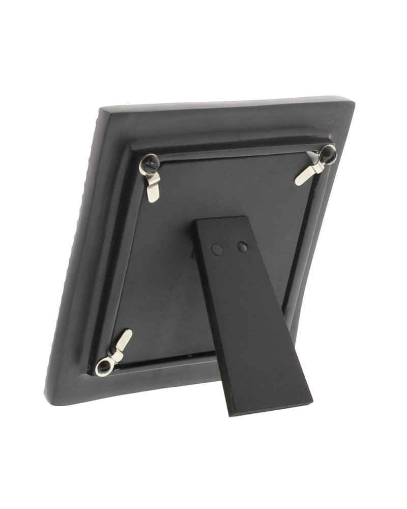 HomArt Erica Cast Metal Photo Frame - Black - Sqr 4x4