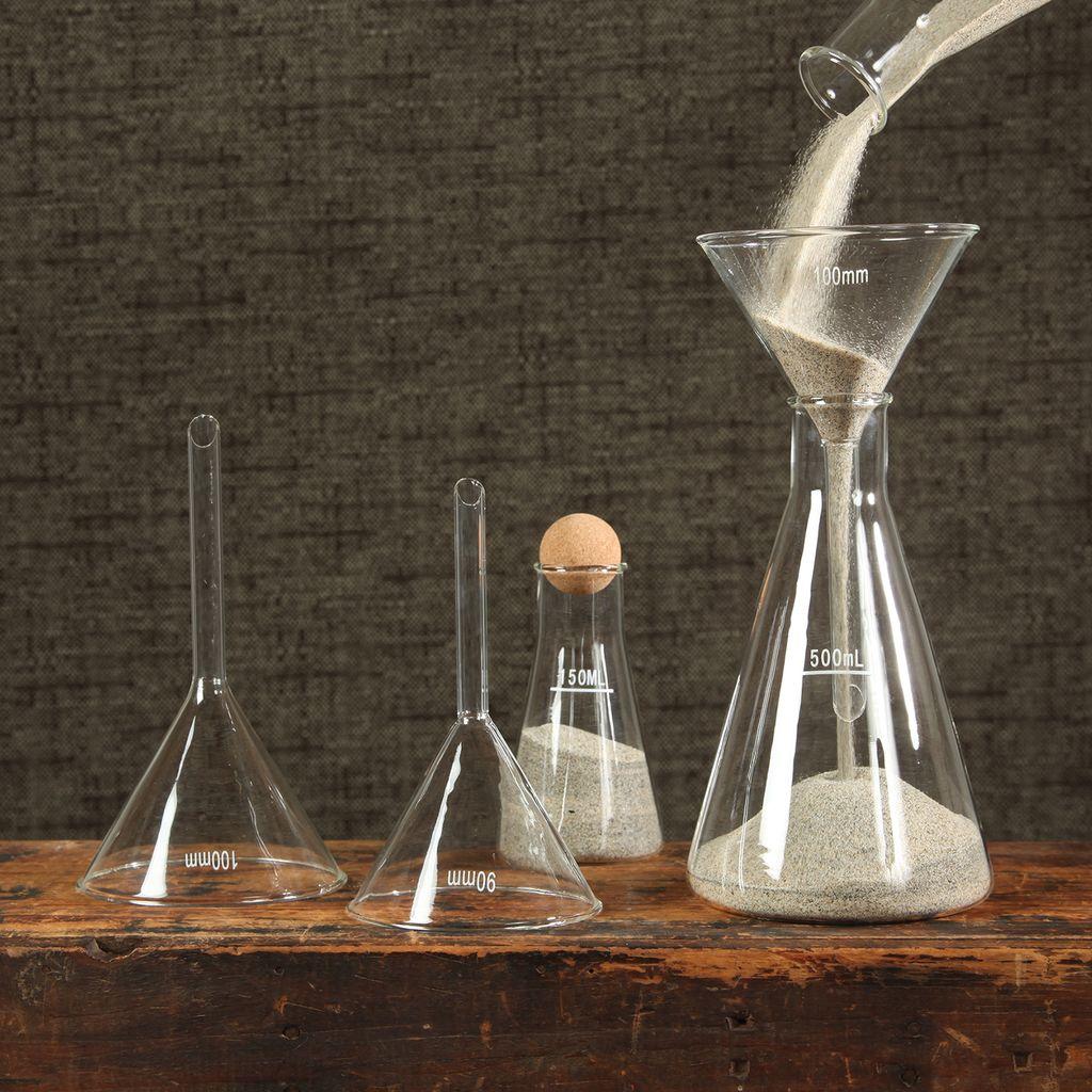 HomArt Chemistry Glass Funnel - 100mm Clear