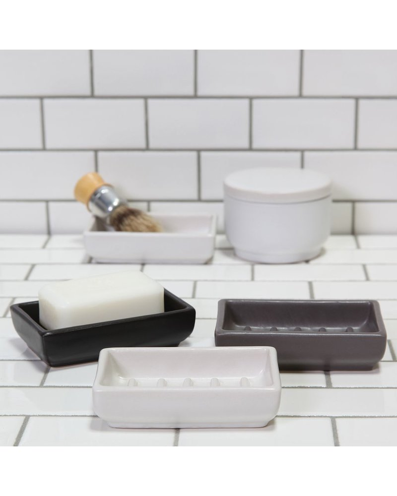 HomArt Luna Ceramic Soap Dish-Rect-Black