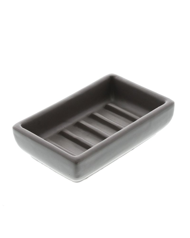 HomArt Luna Ceramic Soap Dish-Rect-Grey
