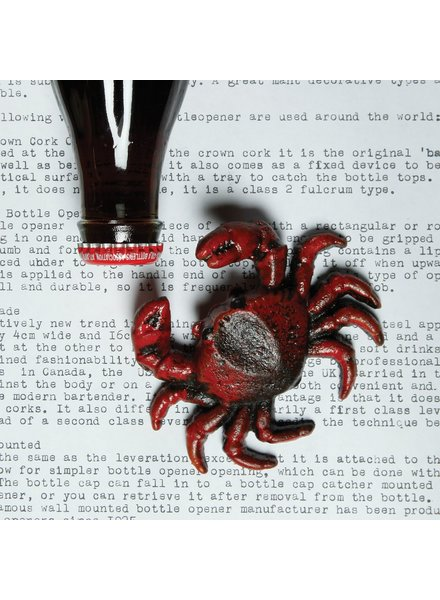 HomArt Crab HomArt Cast Iron Bottle Opener Red