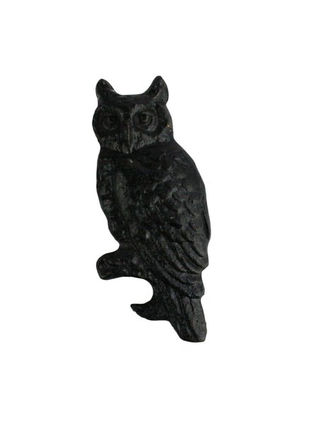 HomArt Owl HomArt Cast Iron Bottle Opener in Black
