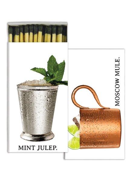 HomArt Moscow Mule & Mint Julep HomArt Matches - Set of 3