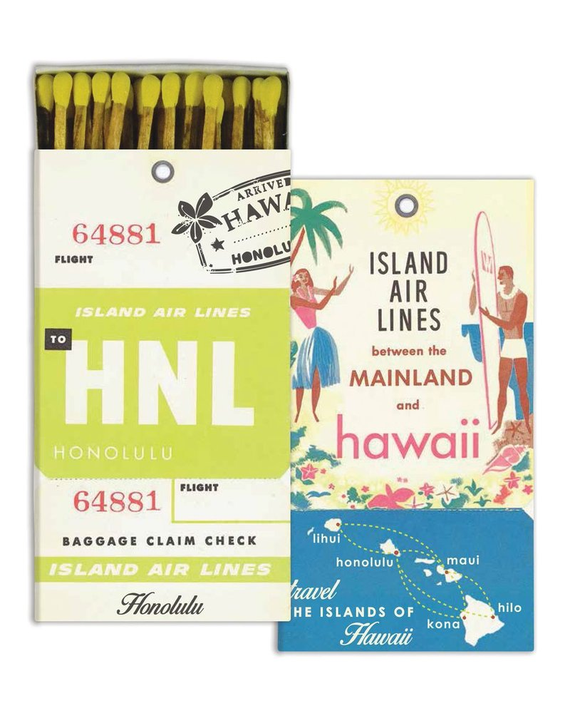 HomArt Hawaii HomArt Matches - Set of 3 Boxes