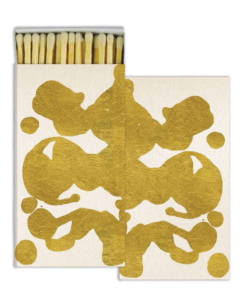 HomArt Gold Foil Rorschach HomArt Matches - Set of 3 Boxes