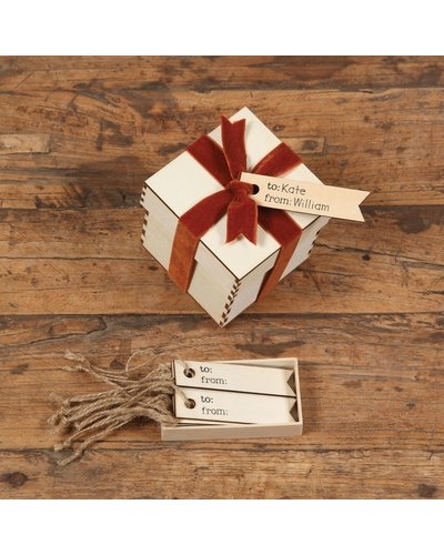 HomArt Gift Wood Hangtag - Box of 12 - To: From: