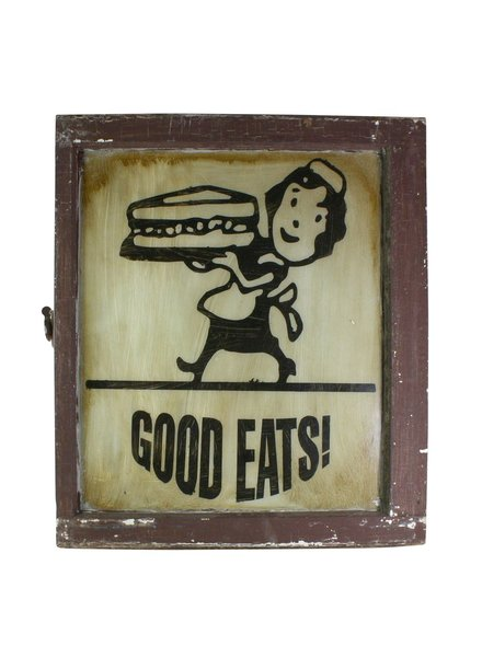Good Eats Vintage Window Art