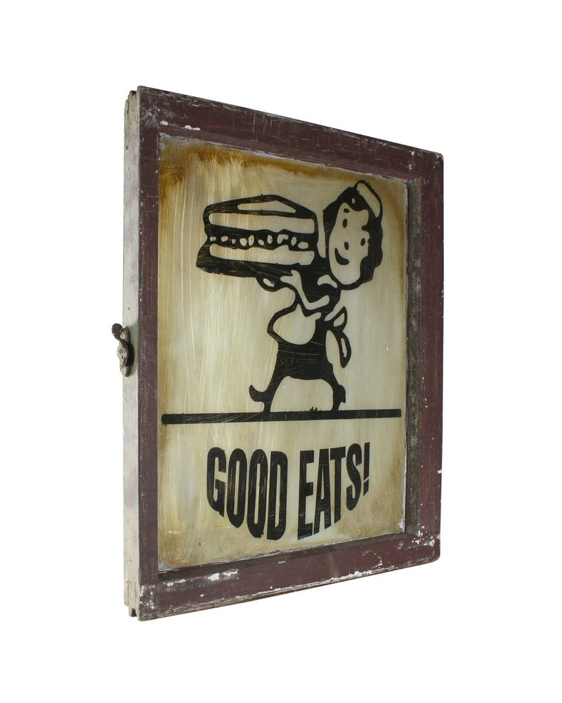 Good Eats Vintage Window Art