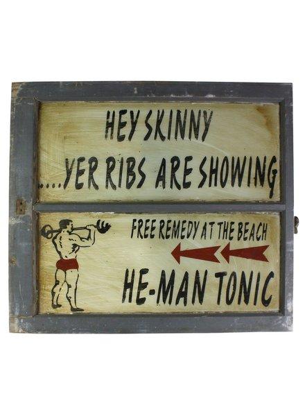 He-Man Tonic Vintage Window Art