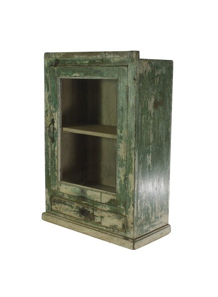 Vintage Wood Cabinet (193) Green Painted