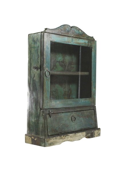 Vintage Wood Case (456) Green Painted