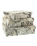 HomArt Marbleized Paper Nesting Boxes - Set of 3-Grey