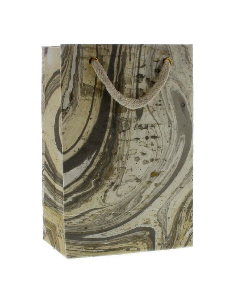HomArt Marbleized Paper Gift Bag - Sm-Grey