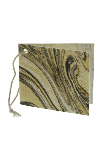 HomArt Grey Marbleized Paper Gift Tag - Pack of 12