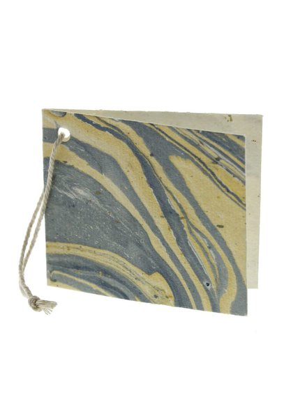 HomArt Blue Marbleized Paper Gift Tag - Pack of 12