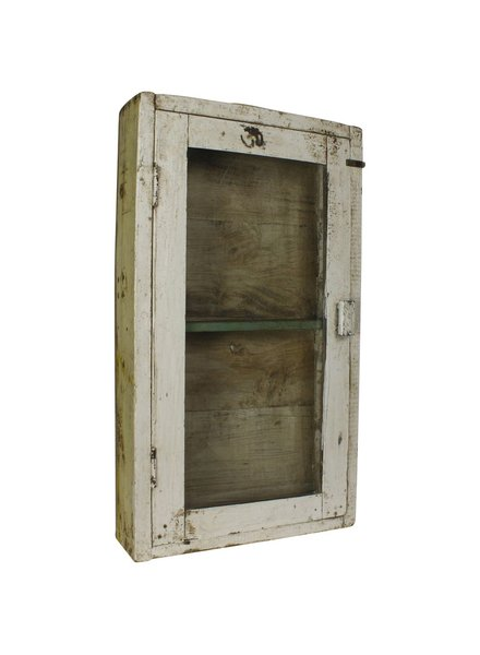 Vintage Wood Case (144) White Painted