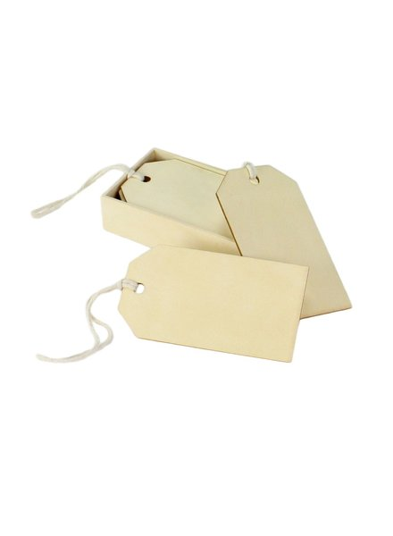 HomArt Utility Tag - Large - Box of 12 Natural Wood