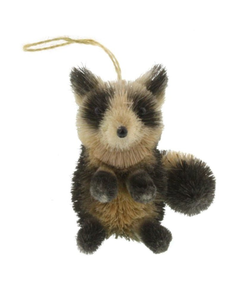 HomArt Raccoon Bottle Brush Ornament