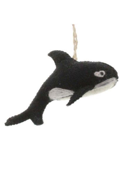 HomArt Felt Orca Whale Ornament