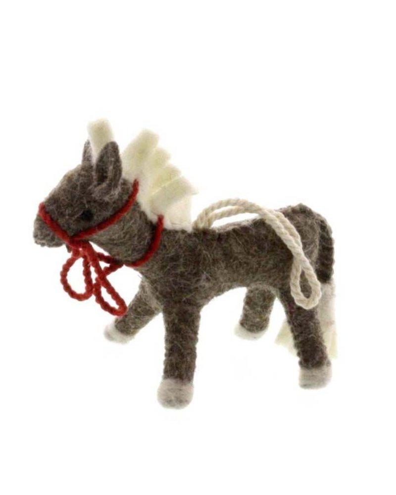 HomArt Felt Pony Ornament-Grey