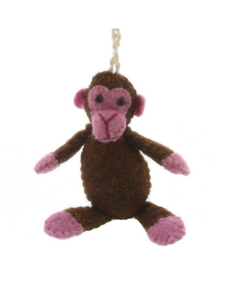 HomArt Felt Monkey Ornament
