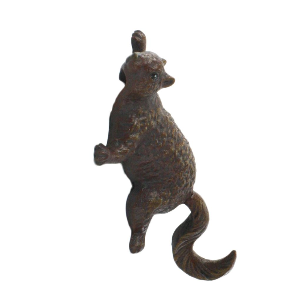 HomArt Climbing Squirrel Wall Hook - Cast Iron Rust