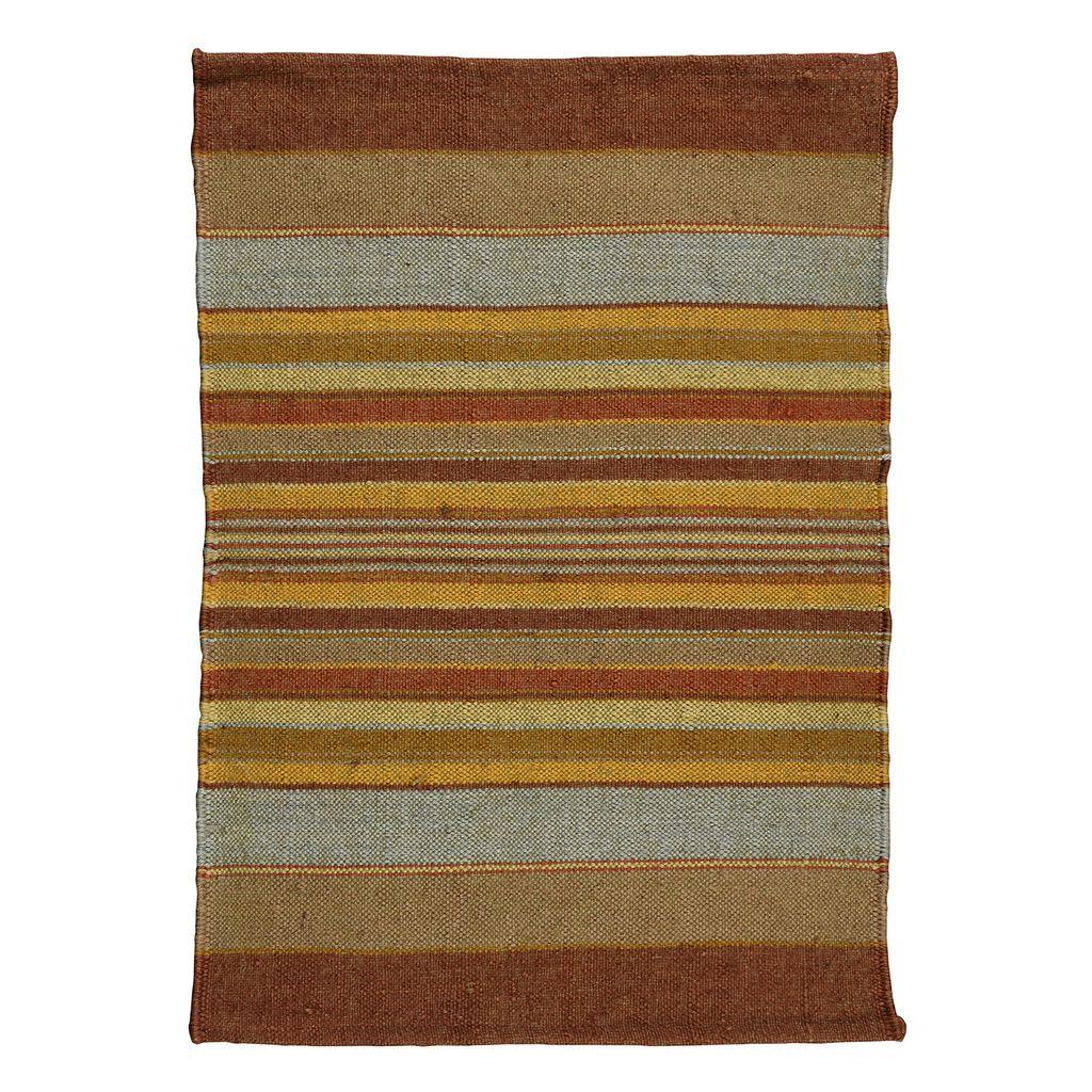 HomArt Caravan Kilim Rug 2x3-Saffron Stripe