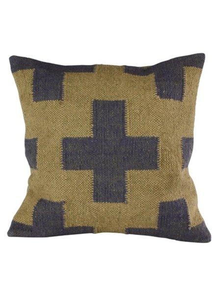 HomArt Heritage Kilim Pillow - Sqr-Navy / Ivory Plus