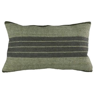 HomArt Caravan Kilim Pillow - Rec-Indigo Stripe