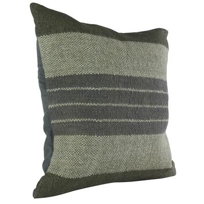 HomArt Caravan Kilim Pillow - Sqr-Indigo Stripe